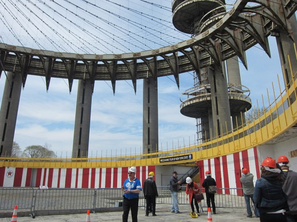 Visiting the NY State Pavilion on its first public day in 27 years