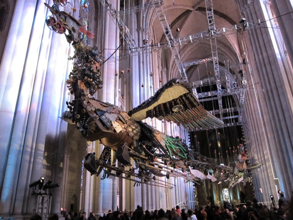 Phoenixes flying in St. John the Divine