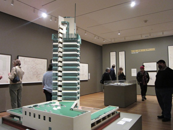 Pretty surreal to be walking in MoMA and run into a model of a building from your Oklahoma hometown...