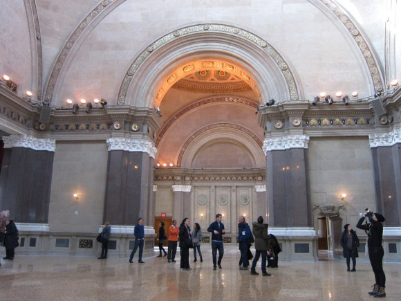 A preview of the restored Williamsburg Savings Bank